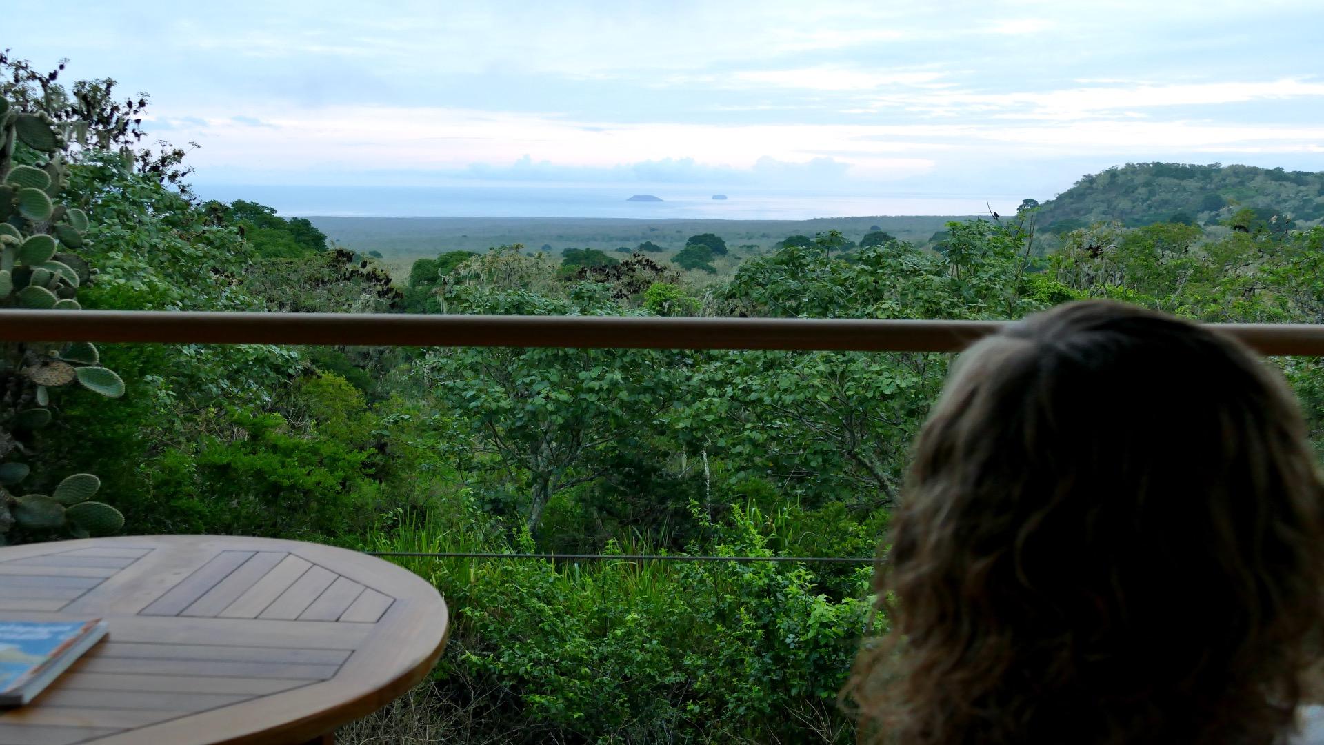 Galapagos Uitzicht vanaf ons privébalkon